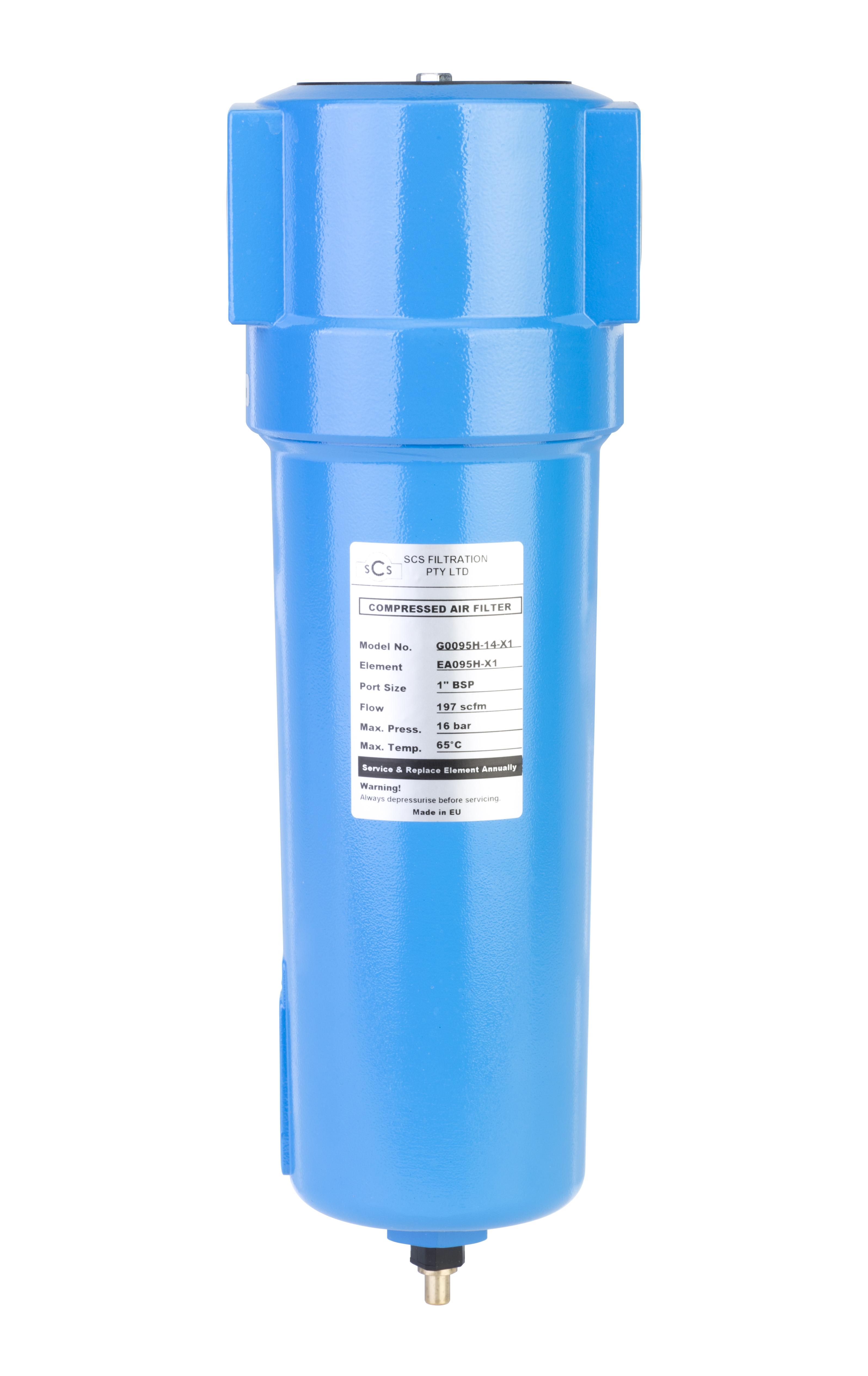 Compressed Air Filter Housing 1 U0026 39  U0026 39  116 Cfm